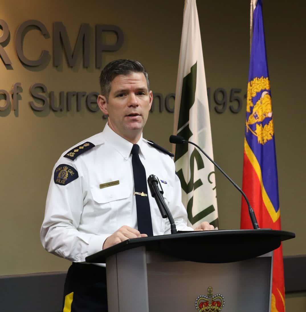 Surrey Auto Mall >> Surrey RCMP Assistant Commissioner Dwayne McDonald's ...